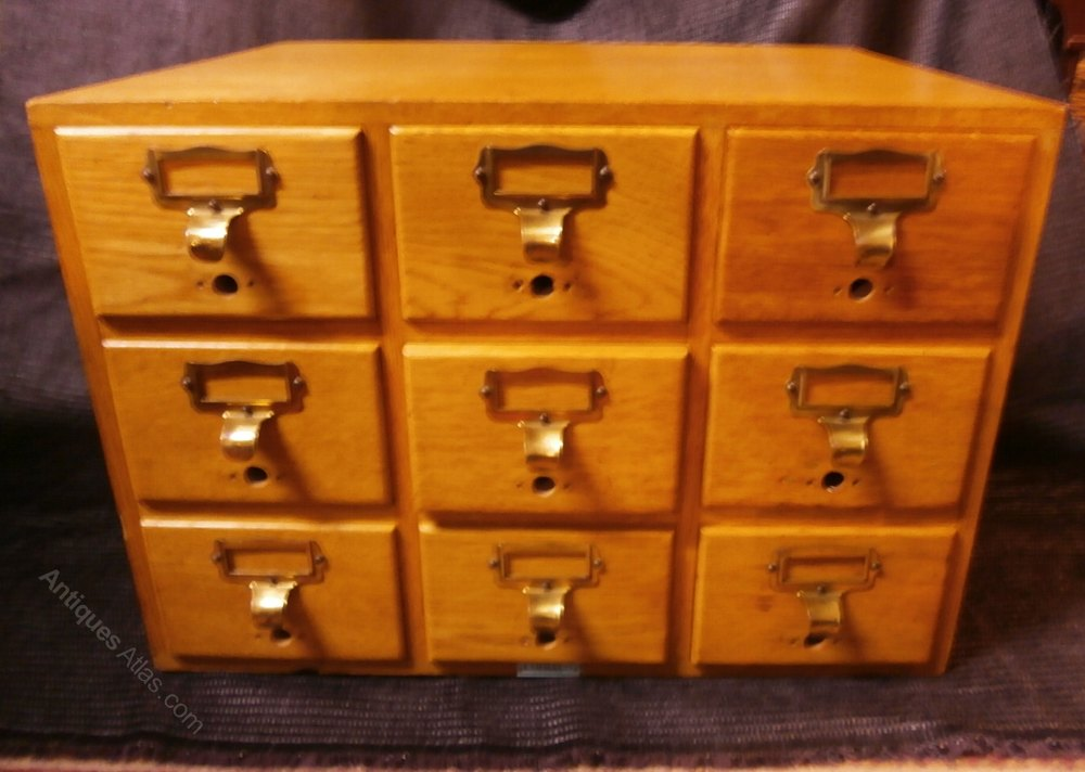 Libraco 9 Drawer Filing Cabinet - Antiques Atlas