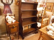 Mahogany Waterfall Bookcase