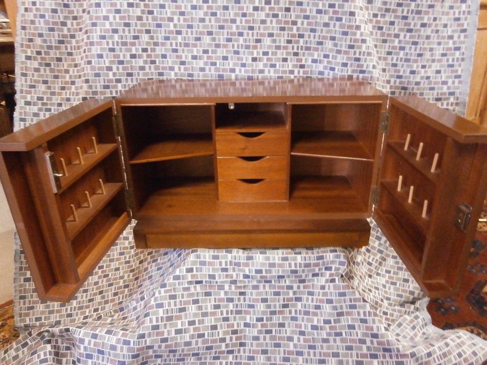 Retro 1960s Teak Sewing Box Cabinet Antiques Atlas