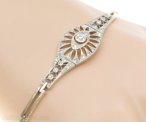 bracelet silver bargainart diamond art with deco bargain diamonds approx