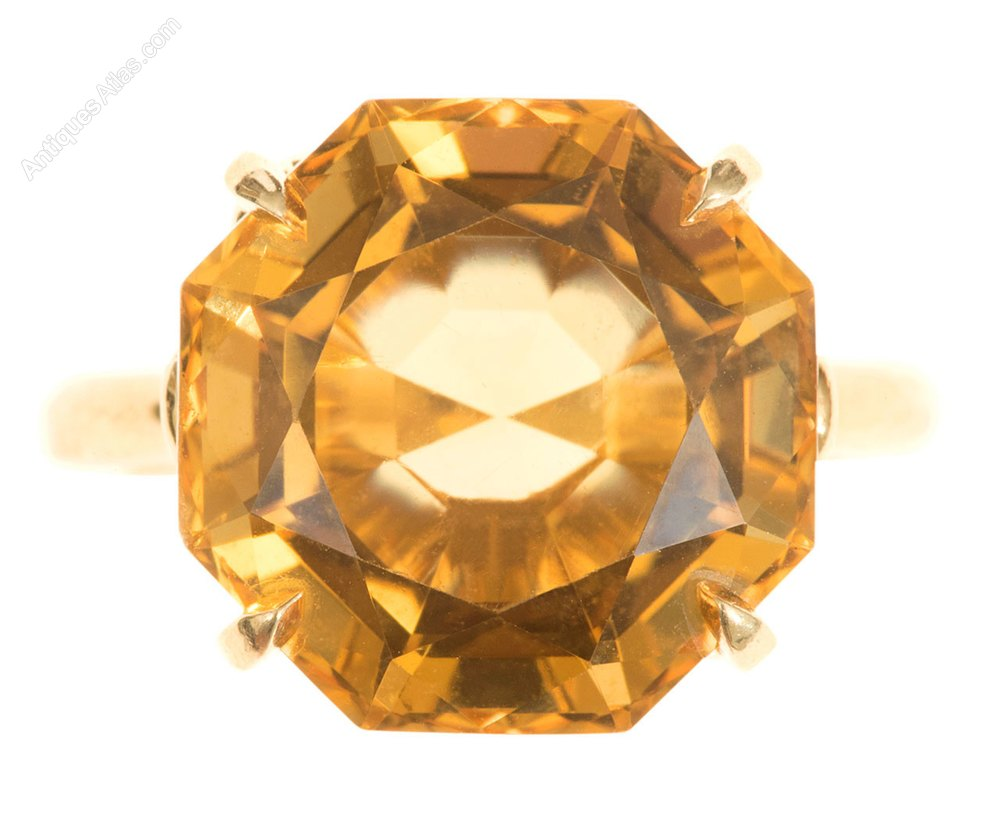 589f40136 Antiques Atlas - Citrine Solitaire Ring By Tiffany & Co