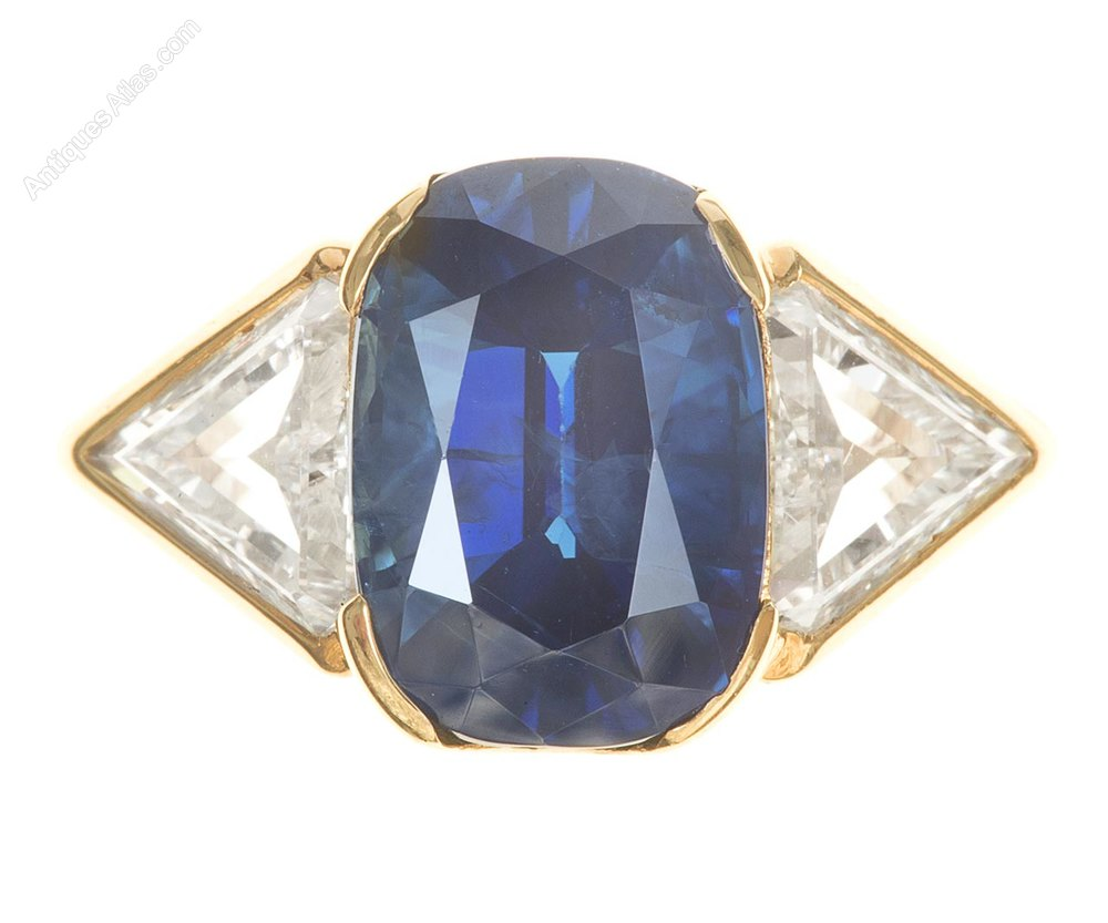 sapphire engagement art gold double rare deco vintage ring antique