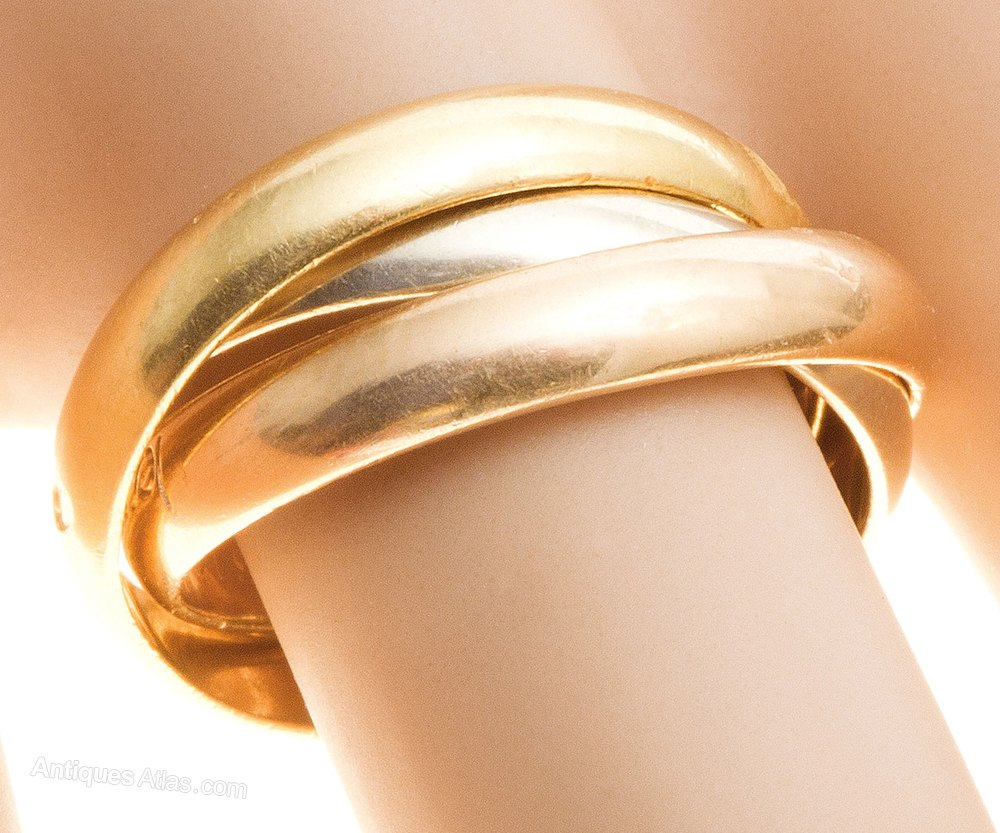 antiques atlas   russian wedding ring by cartier c1980