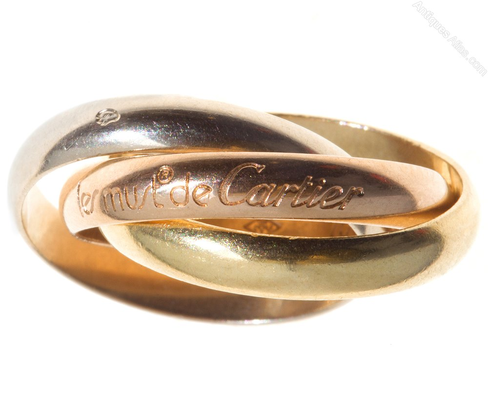 Antiques atlas russian wedding ring by cartier c1980 for Russian wedding rings for sale