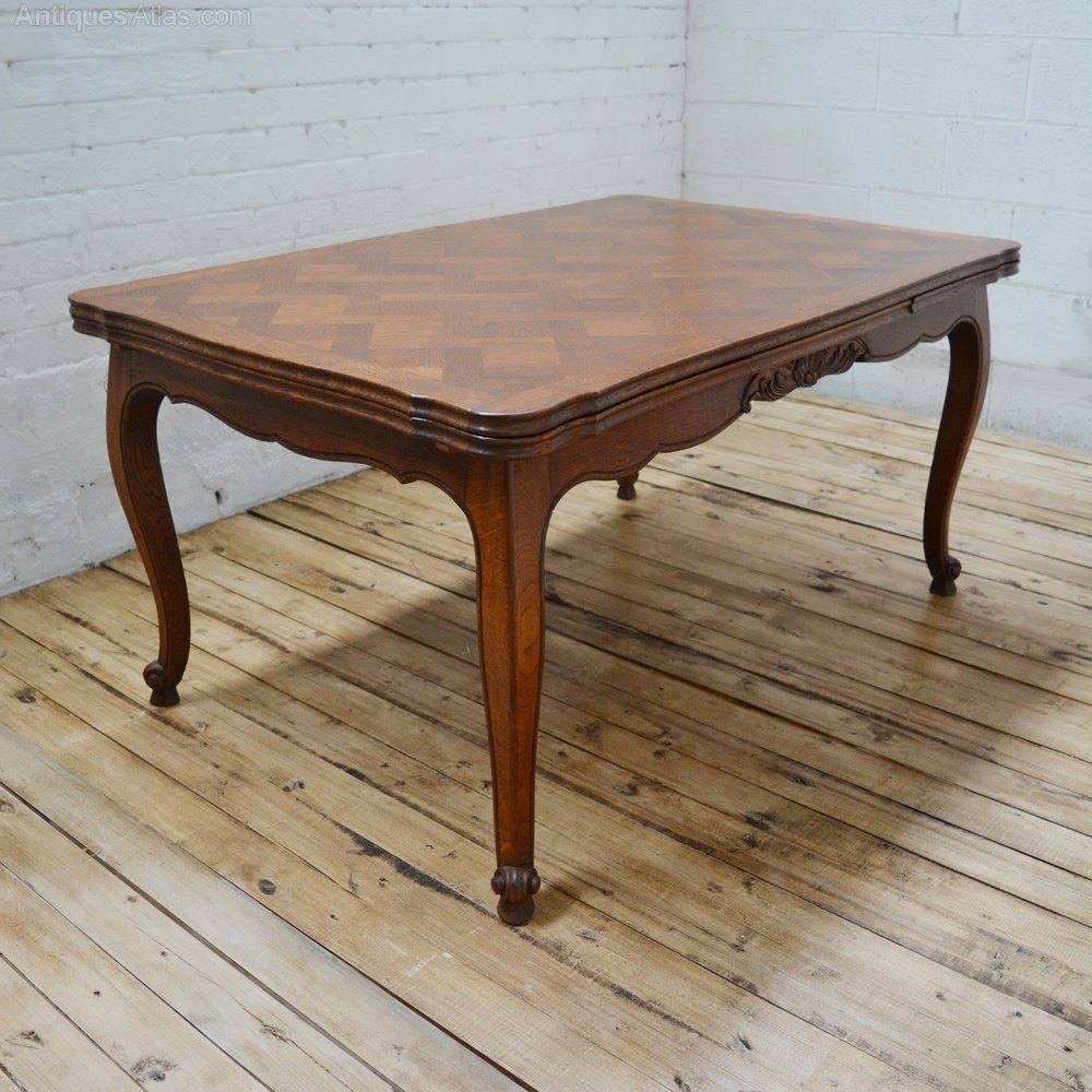 6 Seater Antique Parquetry French Oak Dining Table Antiques Atlas