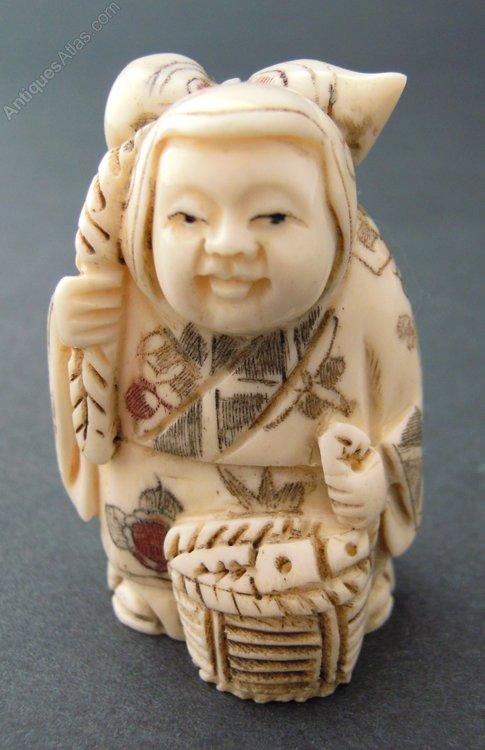 Antiques Atlas Carved Bone Netsuke