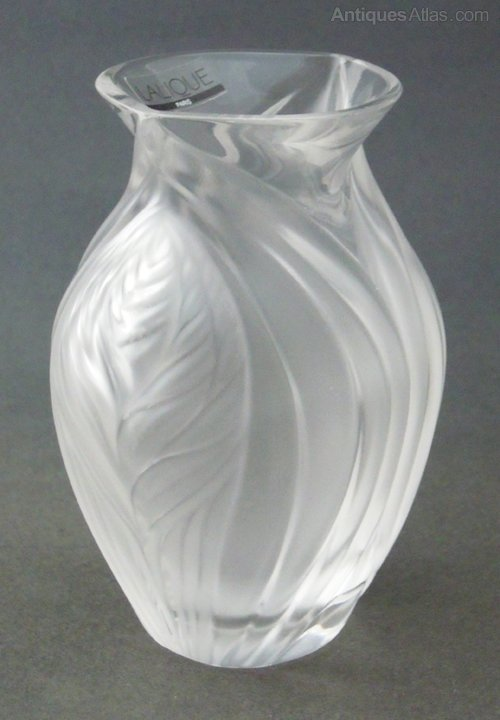 Antiques Atlas Lalique Vase Pavie
