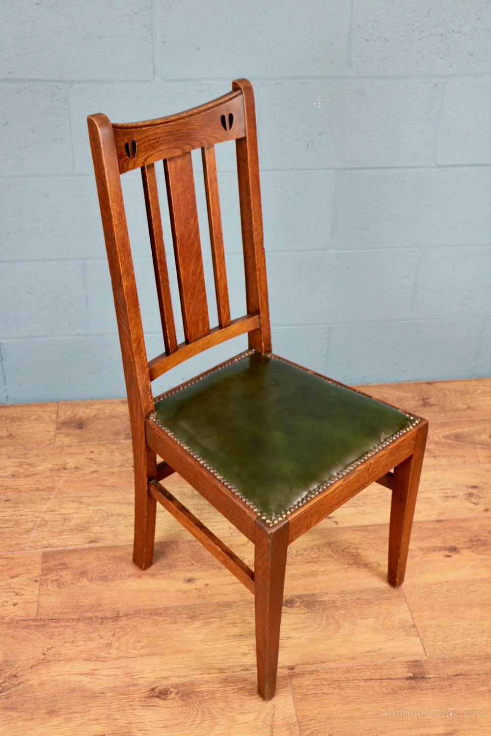 set of 5 x arts and crafts chairs by e a taylor antiques atlas. Black Bedroom Furniture Sets. Home Design Ideas
