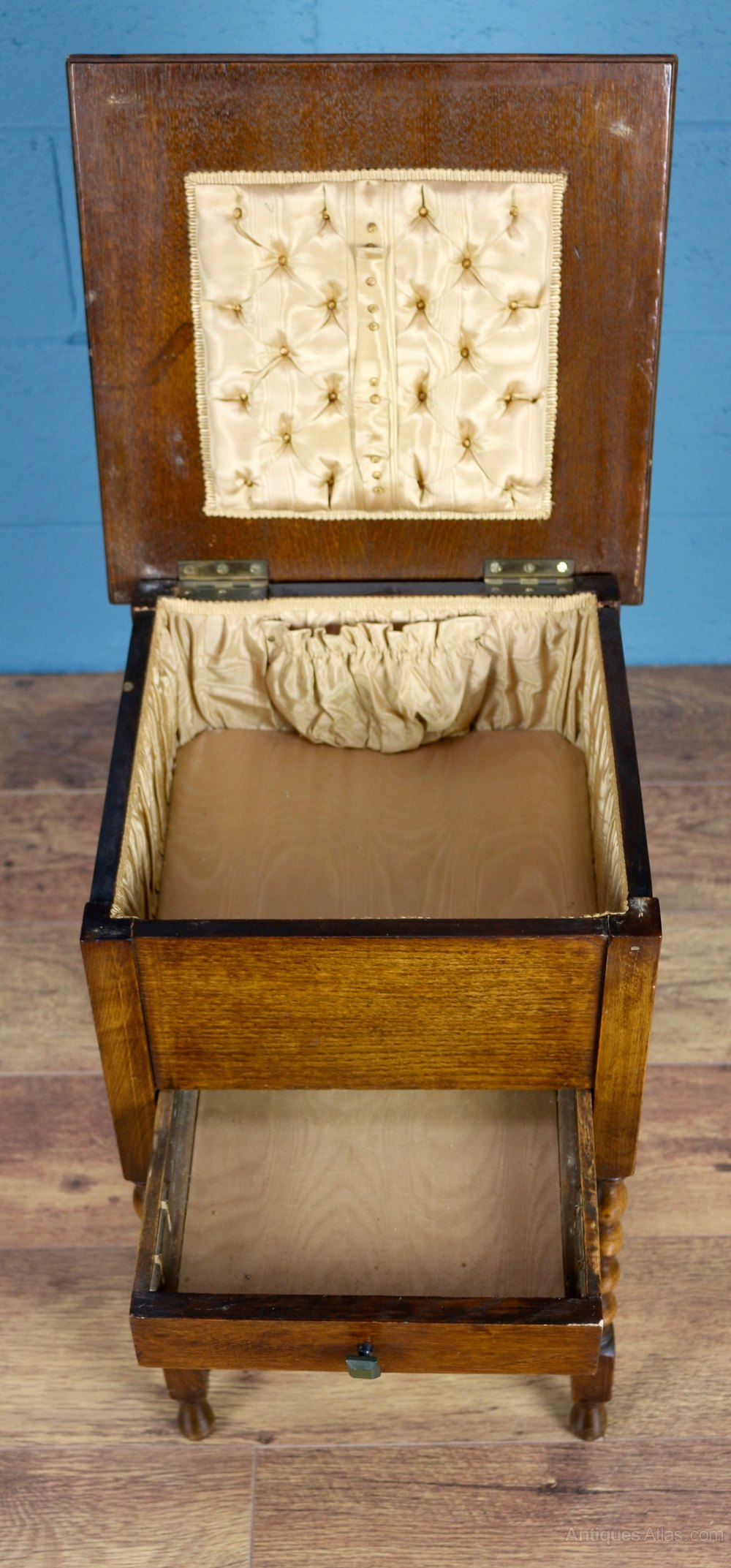 antique oak sewing box antiques atlas