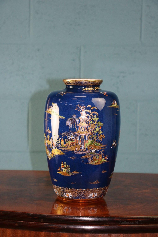 Antiques atlas carlton ware blue royal pagoda vase ware royal pagoda vase alt5 reviewsmspy