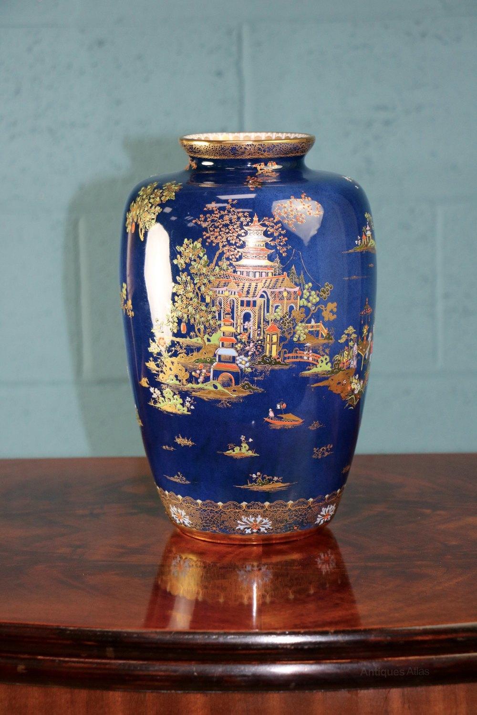 Antiques atlas carlton ware blue royal pagoda vase carlton ware blue royal pagoda vase reviewsmspy