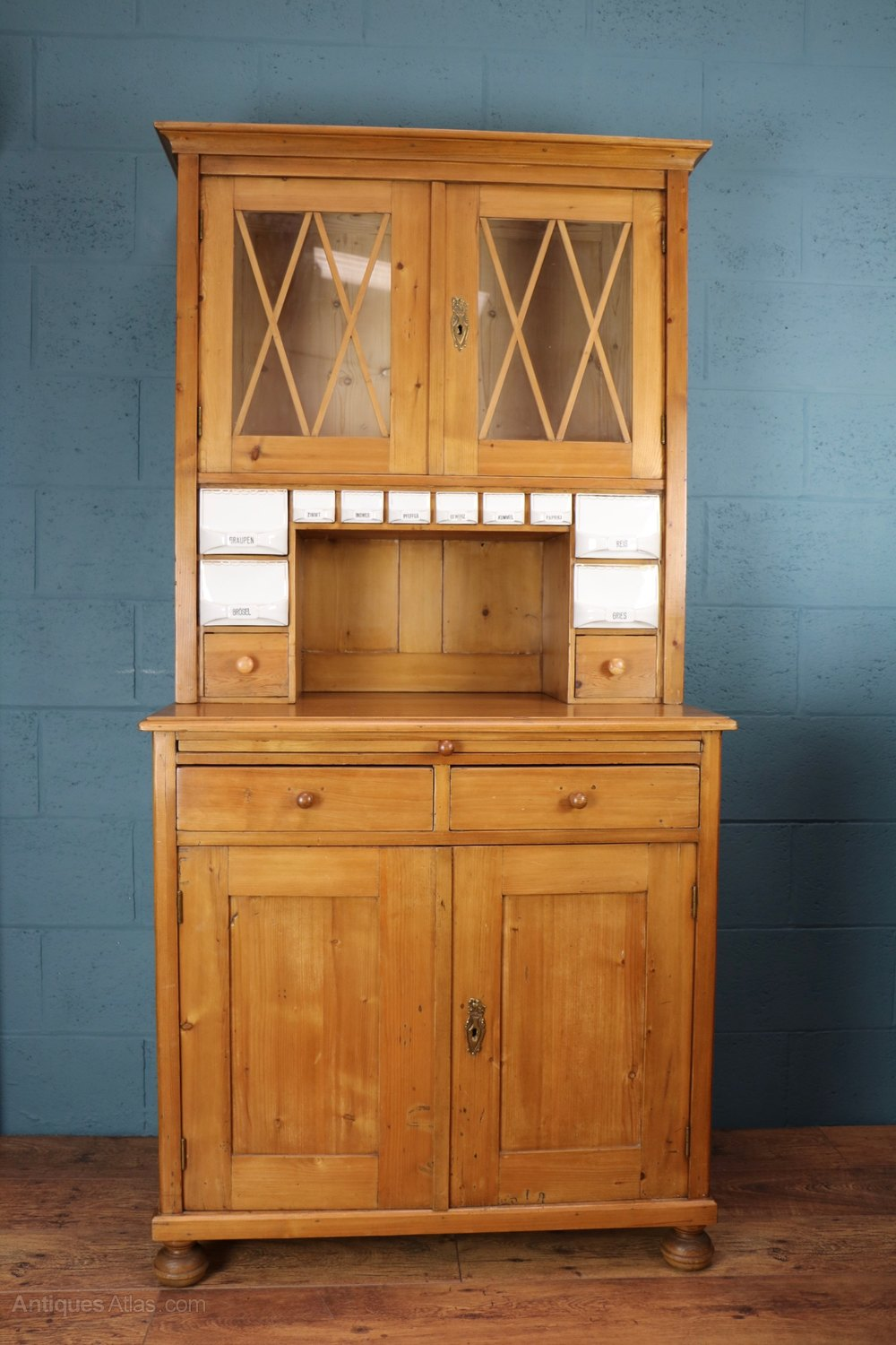 German Pine Kitchen Pantry Cupboard Antiques Atlas