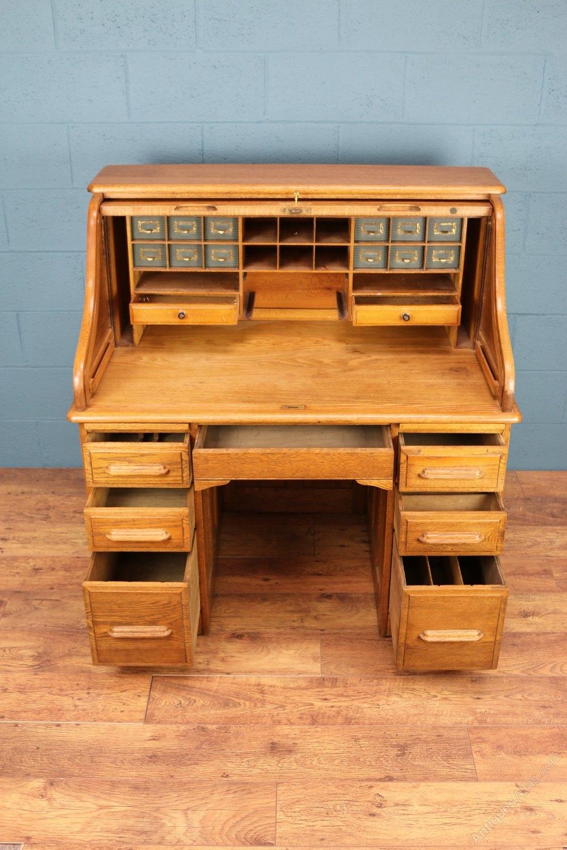 Edwardian Roll Top Desk