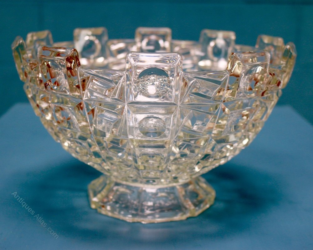 antiques atlas deco glass bowl