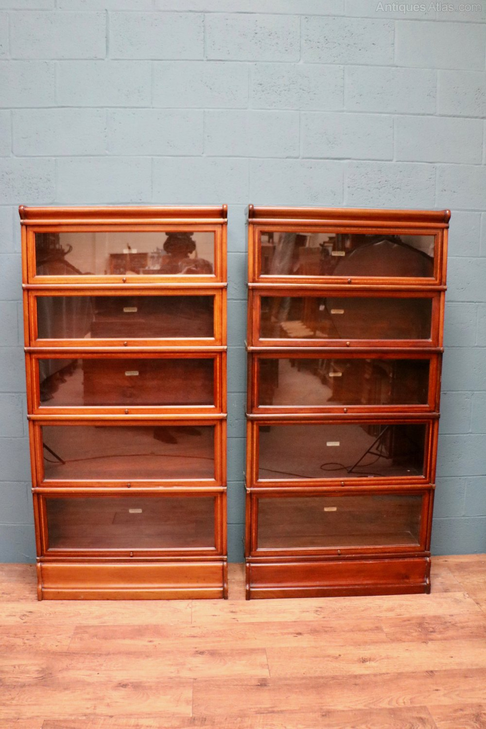 Matching Pair Of Globe Wernicke Stacking Bookcases