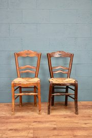 Chairs Cheap Sale Pair Of 19th Century French Rush Seated Chairs