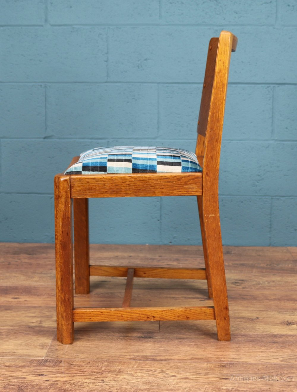Set Of 6 1930s Oak Dining Chairs Antiques Atlas