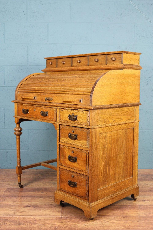 Victorian Roll Top Desk Antiques Atlas