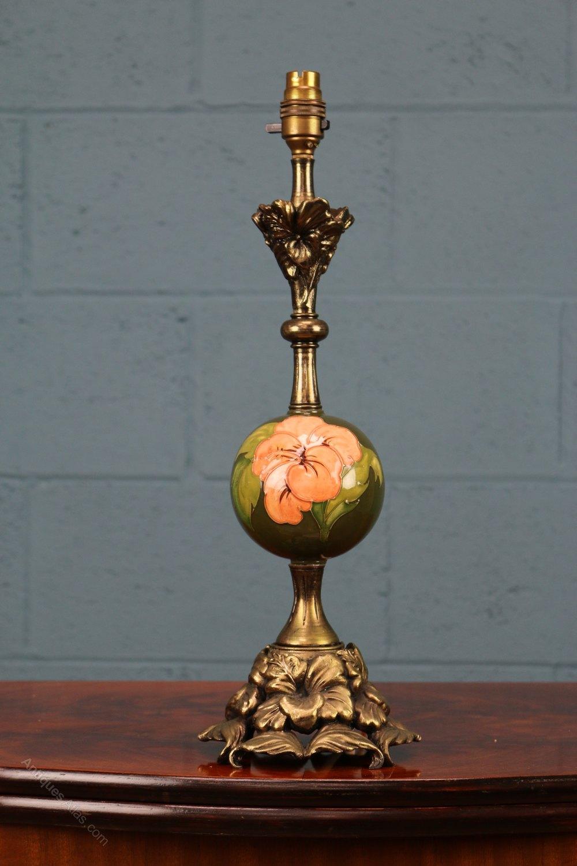 Antiques atlas walter moorcroft hibiscus lamp walter moorcroft table lamp aloadofball Images