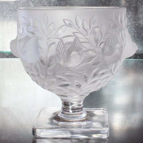 Antiques Atlas Lalique France Clear Crystal Elisabeth Vase