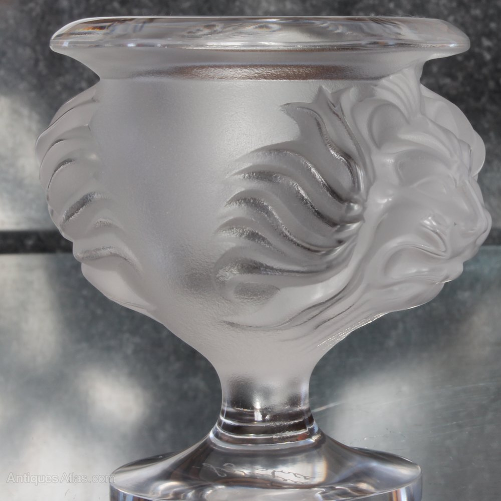 Antiques atlas lalique france clear crystal vase with for Lalique vase