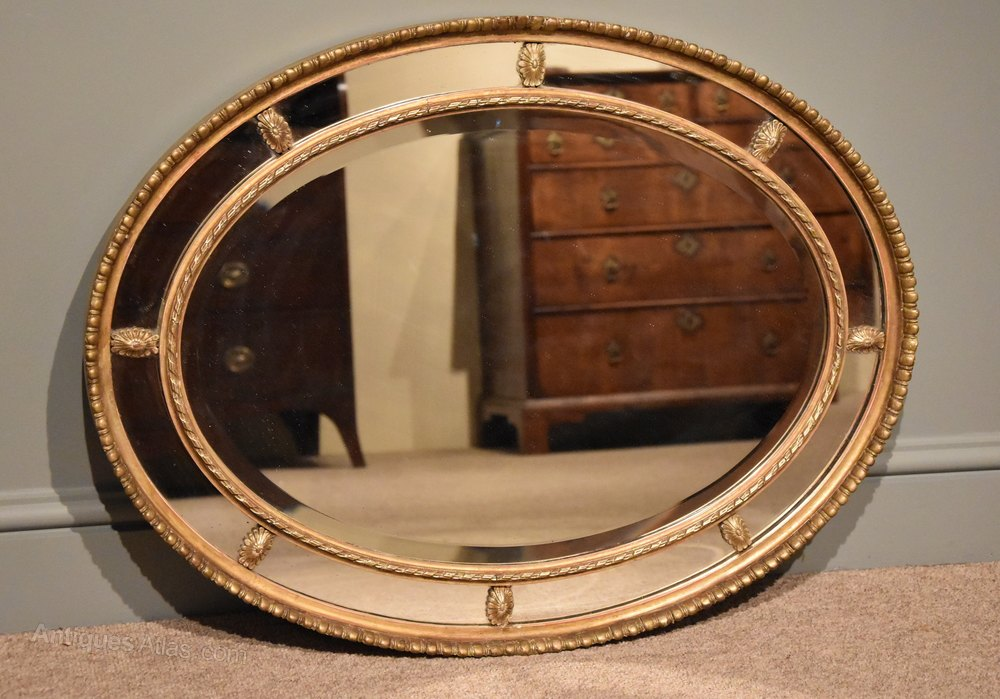 Antiques atlas good quality oval sectional mirror for Mirror quality