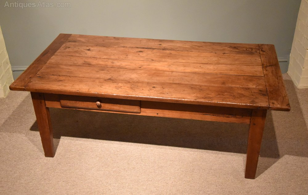 Mid 19th century french cherry wood coffee table antiques atlas Cherry wood coffee tables