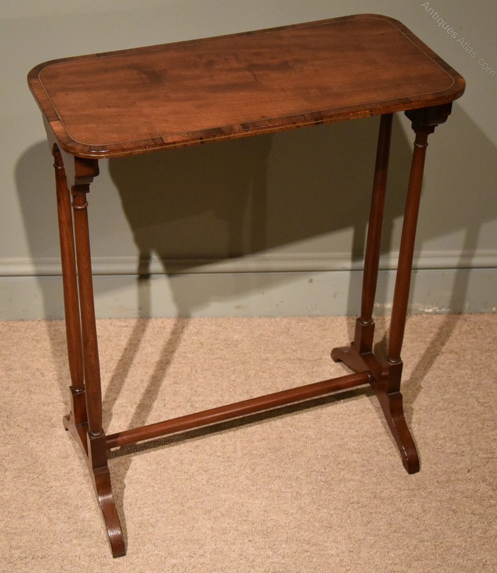 regency mahogany end table antique - Antique Mahogany End Tables
