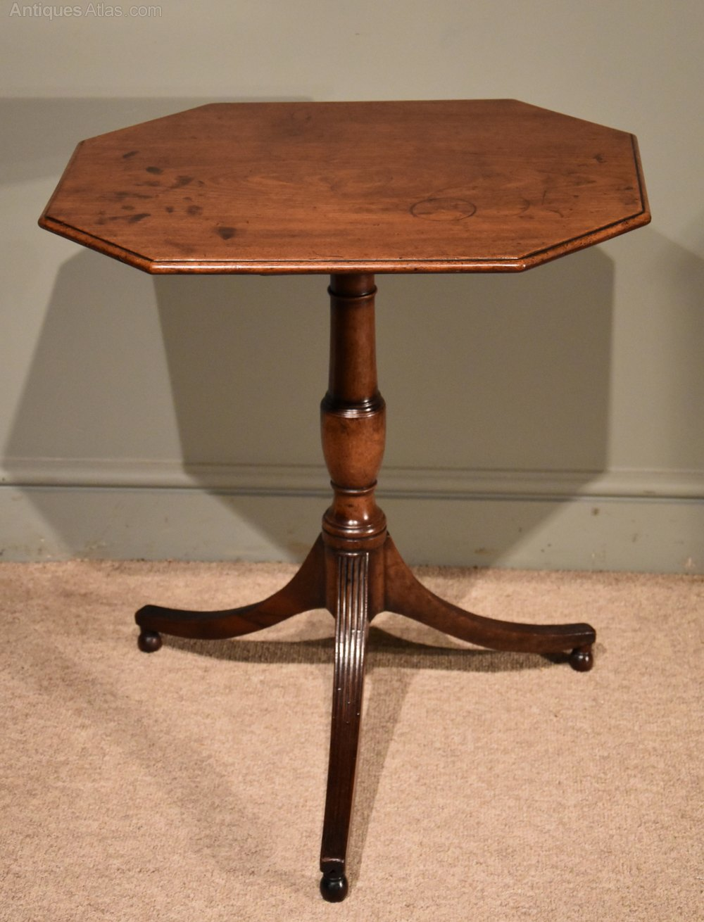 Regency Period Mahogany Rectangular Tripod Table ...