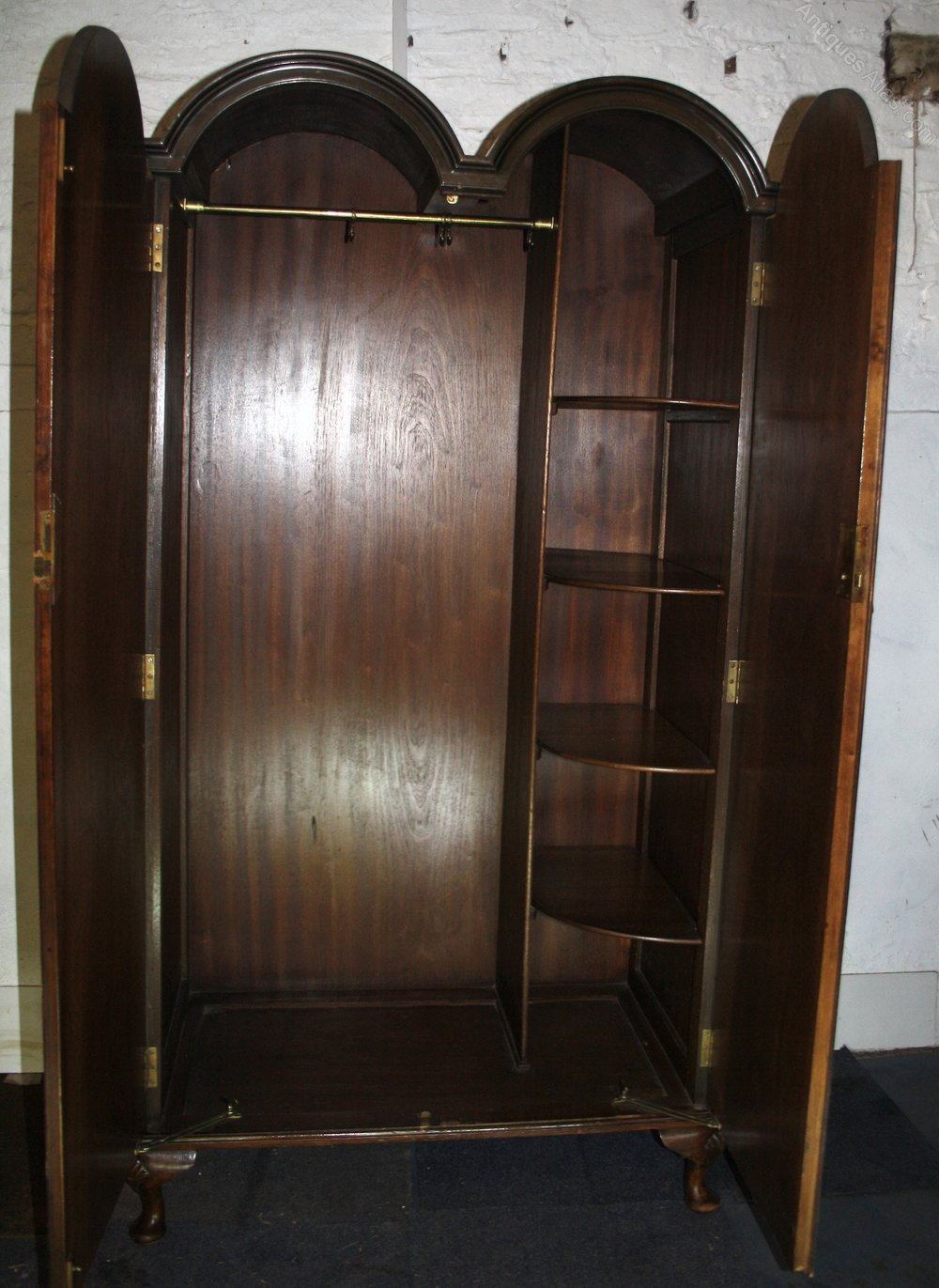 1930s Double Wardrobe Walnut Queen Anne