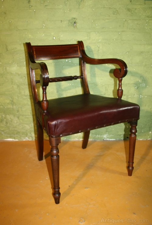 Fantastic Georgian Mahogany Trafalgar Armchair Desk Chair Antiques Atlas Machost Co Dining Chair Design Ideas Machostcouk