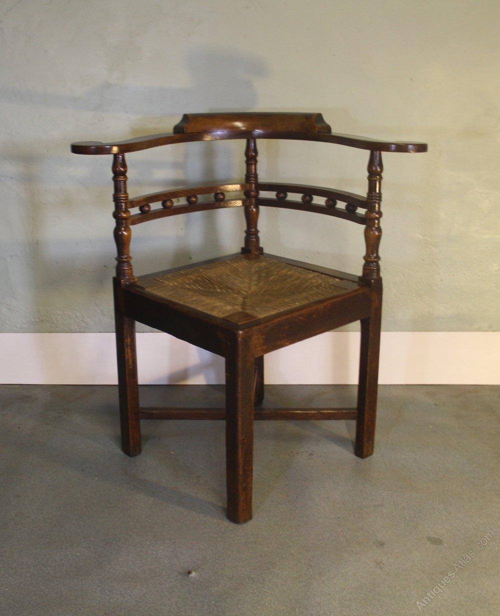 Georgian Oak Corner Chair Armchair 1800 Antique Corner Chairs ... - Georgian Oak Corner Chair Armchair 1800 - Antiques Atlas