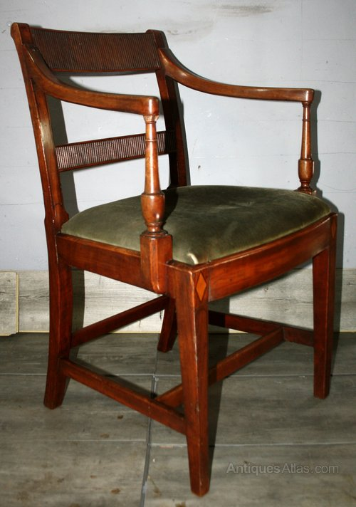 Superb Sheraton Period Sheraton Desk Armchair Side Antiques Atlas Machost Co Dining Chair Design Ideas Machostcouk