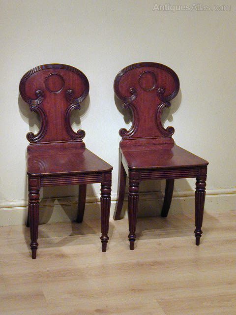 An Elegant Pair of Regency Hall Chairs Antique ... - An Elegant Pair Of Regency Hall Chairs - Antiques Atlas