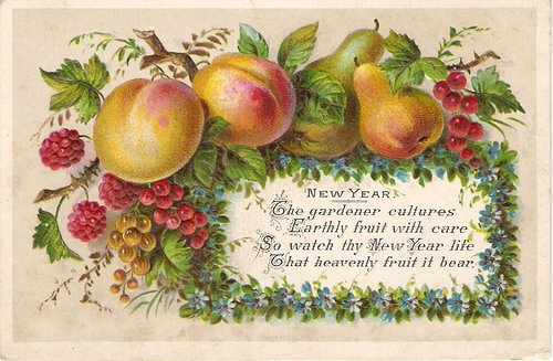2 victorian new year greetings cards antique new year greetings cards