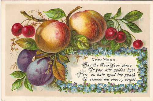 victorian new year cards embossed