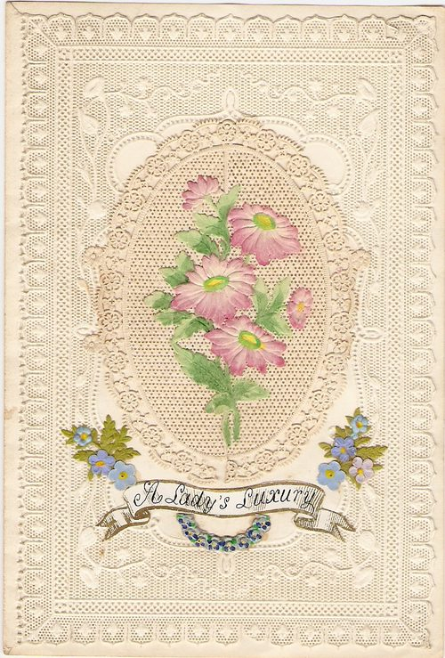 Antiques atlas antique greetings cards diecut paperlace victorian val m4hsunfo