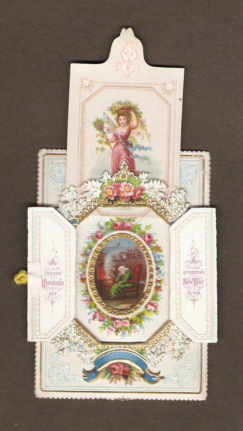 antiques atlas  victorian mechanical christmas card  c1885
