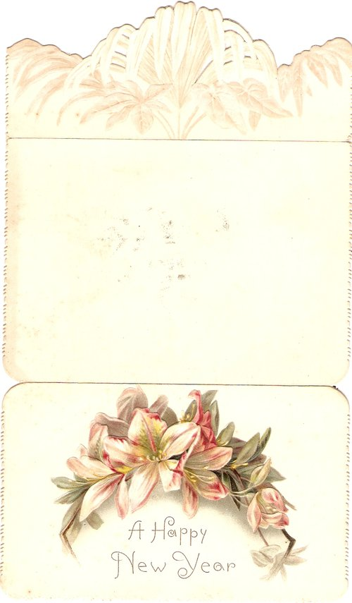 victorian new year card circa 1880s antique new year greetings cards