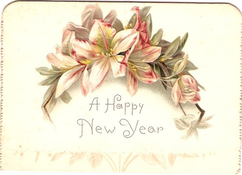victorian new year card circa 1880s
