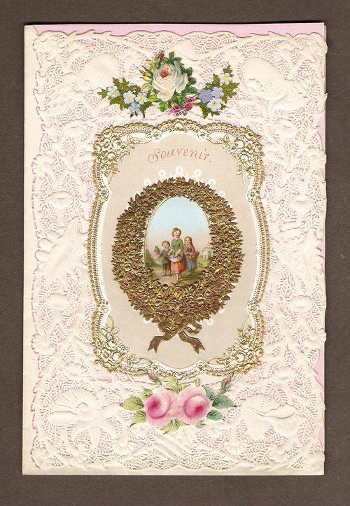 antiques atlas  victorian valentine card of 1856
