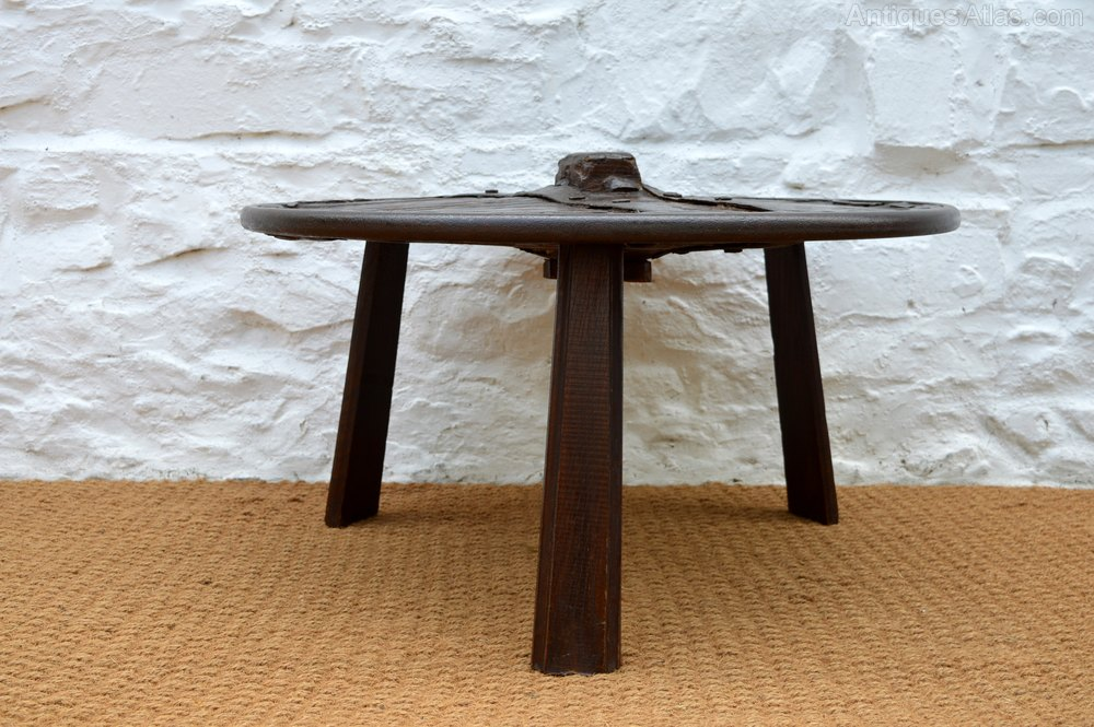 18thc Ox Cart Wheel Coffee Table Antique Tables Primitive Occasional