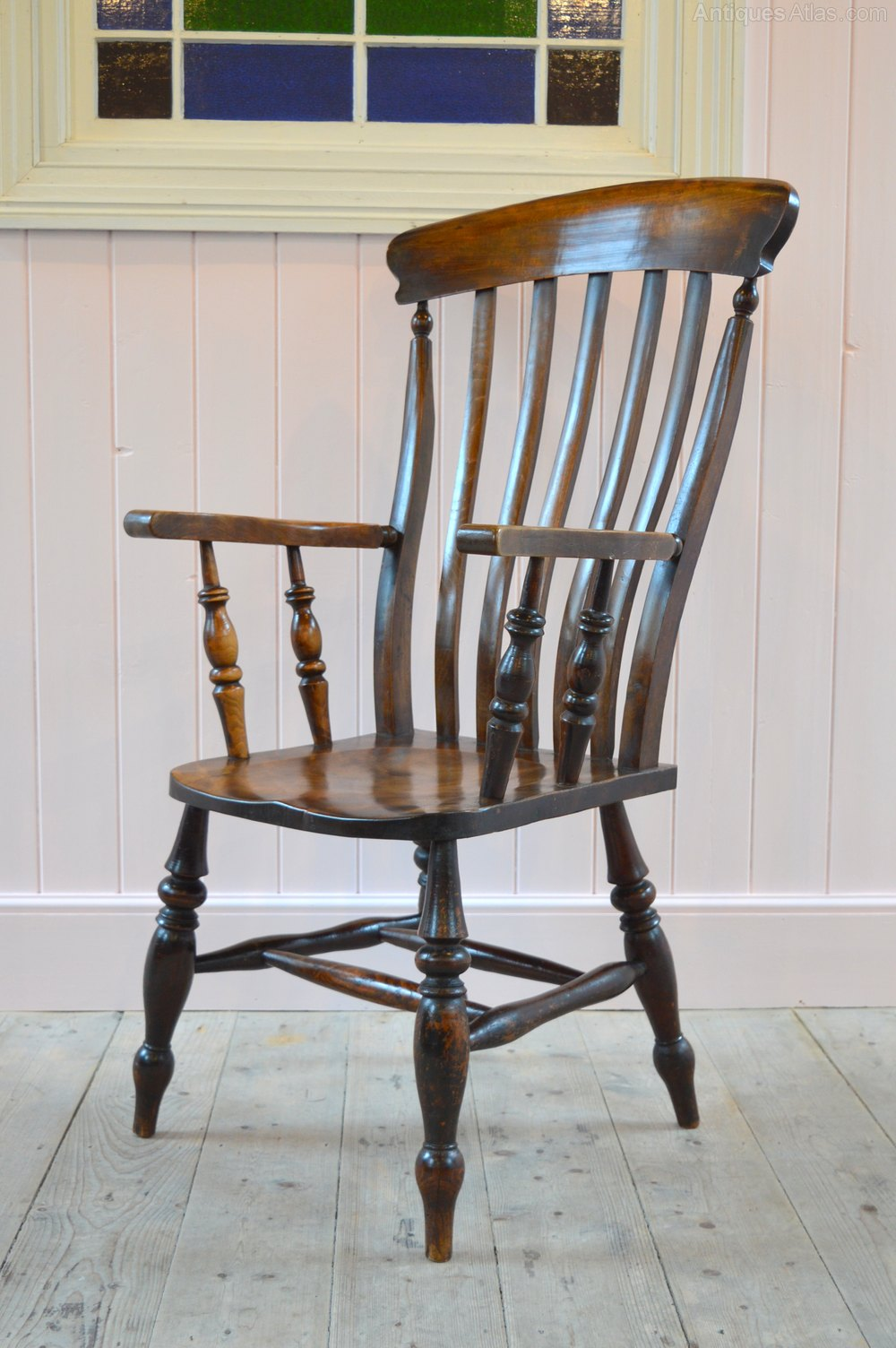 large victorian farmhouse grandfather armchair antiques