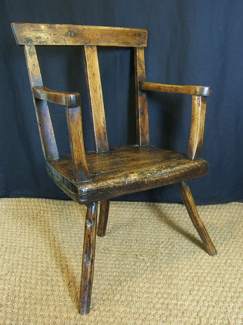 North Wales Welsh Oak Stick Chair Antiques Atlas