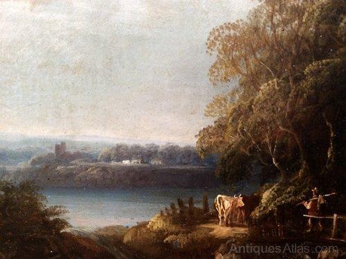 18th Century Dutch,Flemish Oil Pastoral Landscape