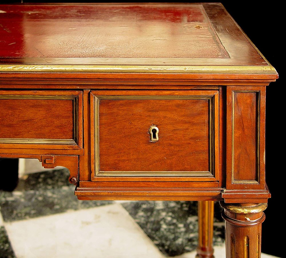A french directoire mahogany bureau plat antiques atlas for Bureau in french