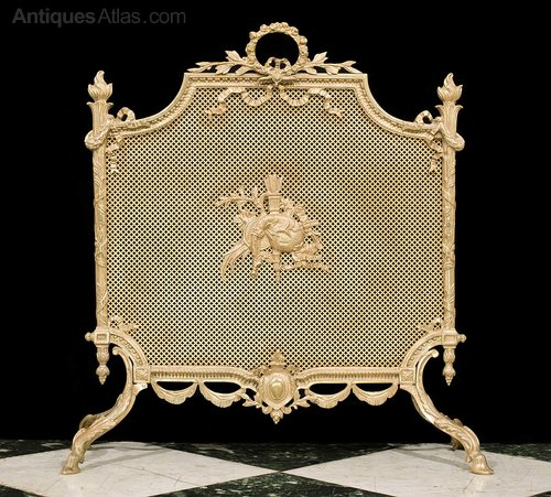 Antiques Atlas A Fine Louis Xvi Style Gilt Br Firescreen