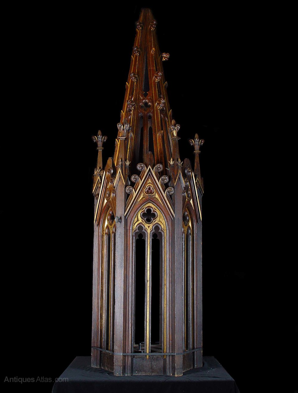 Antiques atlas a tall carved oak gothic revival spirelet