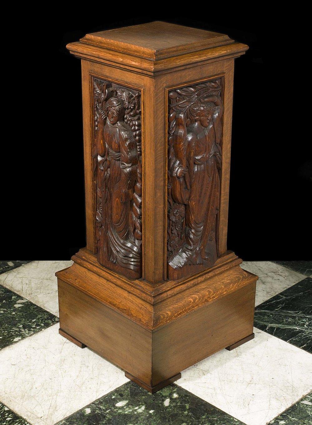 An Arts Amp Crafts Antique Oak Pedestal Antiques Atlas
