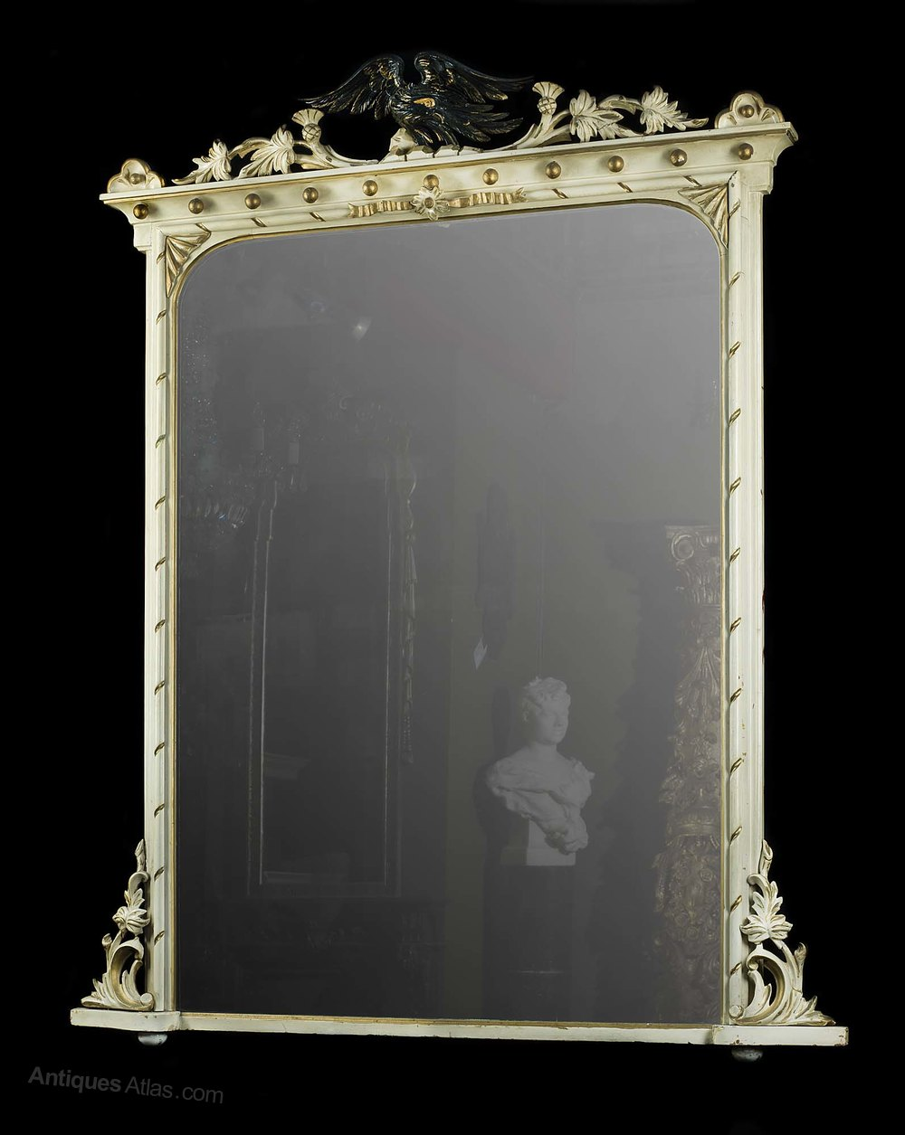 Antiques atlas an antique painted and gilded overmantle for Victorian mirror
